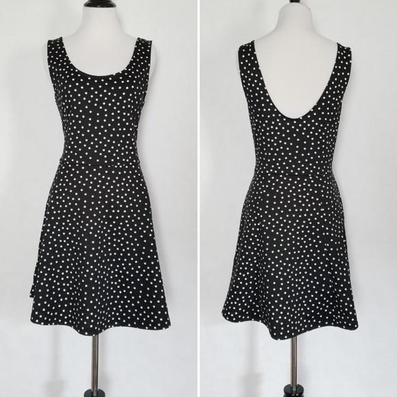 Polka Dot Plus Size Skater Dress